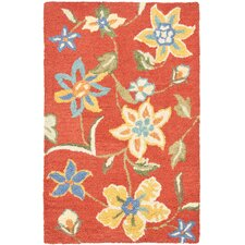 Blossom Orange/Multi Floral Area Rug