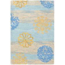 <strong>Safavieh</strong> Soho Blue/Multi Stripe Rug