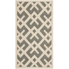 Courtyard Grey & Bone Outdoor/Indoor Area Rug