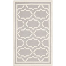Dhurries Purple/Ivory Area Rug