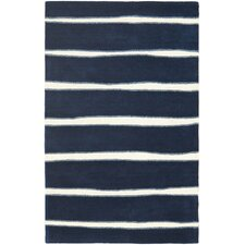 Martha Stewart Wrought Iron Navy Area Rug