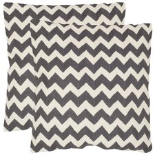 <strong>Safavieh</strong> Striped Tealea Decorative Pillow (Set of 2)