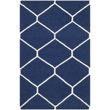 Dhurries Navy Area Rug