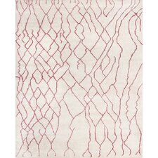 Moroccan Ivory/Pink Rug