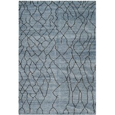 Moroccan Blue/Black Rug