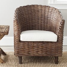 Omni Barrel Fabric Arm Chair