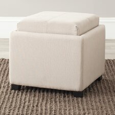 <strong>Safavieh</strong> Carter Fabric Cube Ottoman