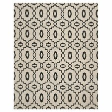 Dhurries Ivory / Black Rug