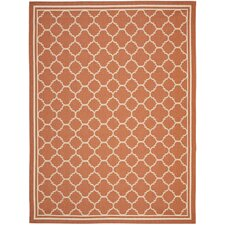Courtyard Terracotta / Bone Outdoor Rug
