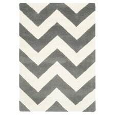 Chatham Dark Grey / Ivory Chevron Area Rug