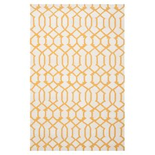 Dhurries Ivory / Yellow Rug