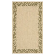 <strong>Safavieh</strong> Courtyard Natural/Green Rug Set