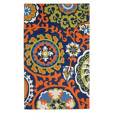 <strong>Safavieh</strong> Cedar Brook Light Blue / Orange Floral Rug