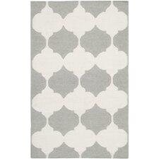 Dhurries Grey & Ivory Area Rug