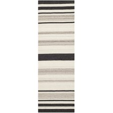 <strong>Safavieh</strong> Dhurries Natural / Grey Moroccan Rug