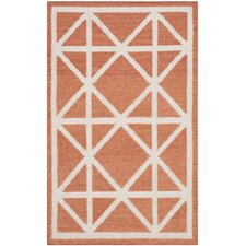 Dhurries Red/Ivory Rug