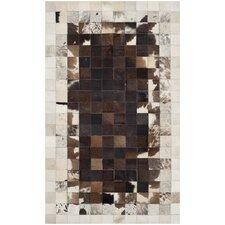 Studio Ivory / Dark Brown Geometric Rug