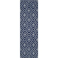 Dhurries Navy / Ivory Geometric Rug
