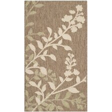 <strong>Safavieh</strong> Courtyard Brown / Beige Rug