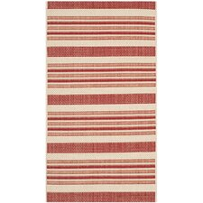 Courtyard Beige / Red Outdoor Rug