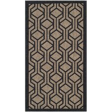 <strong>Safavieh</strong> Courtyard Brown / Black Rug