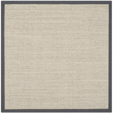 Natural Fiber Marble/Light Gray Area Rug