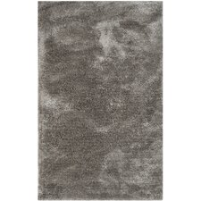 South Beach Silver Shag Area Rug