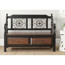Eric Wood Storage Entryway Bench