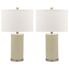 "Roxanne 26"" H Table Lamp with Drum Shade (Set of 2)"