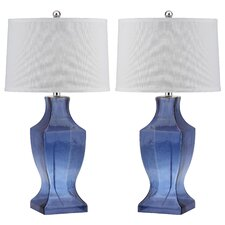"Bottom 28.5"" H Table Lamp with Drum Shade (Set of 2)"