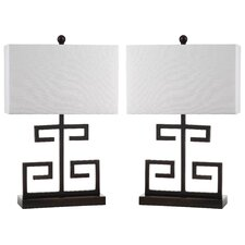 "Coral Branch 24"" H Table Lamp with Rectanglar Shade (Set of 2)"
