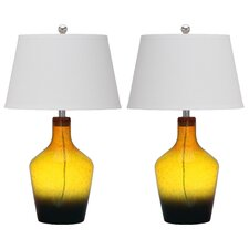 Antiquaraian Glass Table Lamp (Set of 2)