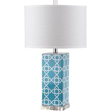 "Quatrefoil 27"" H Table Lamp with Drum Shade (Set of 2)"