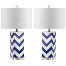 Chevron Stripe Table Lamp (Set of 2)