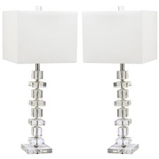 "Deco 28"" H Table Lamp with Rectangular Shade (Set of 2)"