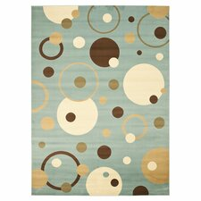 Porcello Flower-Petal Blue Area Rug