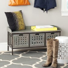 Isaac Wooden Storage Entryway Bench