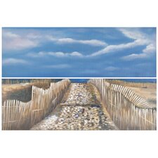 Sea and Sand 2 Piece Painting Print on Canvas Set