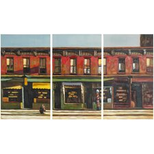 Main Street 3 Piece Painting Print on Canvas Set