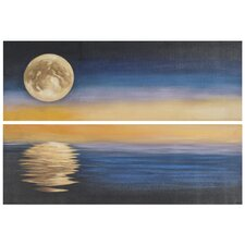 Moonscape 2 Piece Painting Print on Canvas Set