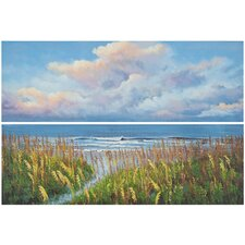 Beach Walk 2 Piece Painting Print on Canvas Set
