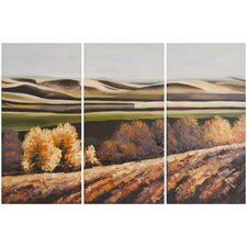 Harvest Dreams 3 Piece Painting Print on Canvas Set
