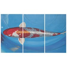 Go Fish 3 Piece Painting Print on Canvas Set