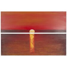 Sanibel Sunset 2 Piece Painting Print on Canvas Set