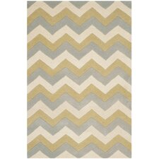 Chatham Grey / Gold Chevron Contemporary Rug