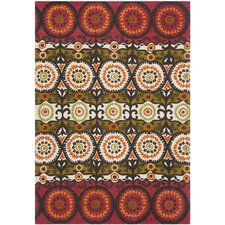 Cedar Brook Red / Orange Contemporary Rug