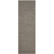 Natural Fiber Grey Contemporary Rug
