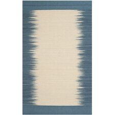 Kilim Beige / Light Blue Contemporary Rug