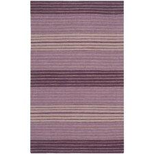 Marbella Lilac Striped Contemporary Purple Area Rug