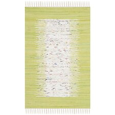 Montauk Ivory / Teal Contemporary Rug